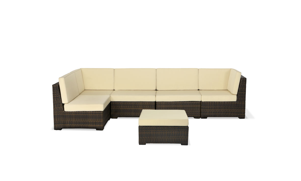 Polyrattan lounge weiss